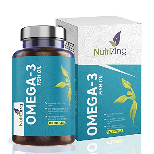 Triple Strength Omega 3 Fish Oil. Provides 2000mg, 660 EPA 440 DHA per Serving. 180 Capsules. Supports Normal Function of The Brain & Heart. Triglyceride Form of Omega-3 by NutriZing