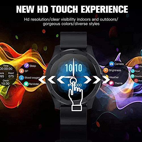 Reloj inteligente de pantalla para mujeres y hombres Full Touch Fitness Tracker reloj inteligente Smartwatch para Android-E-F