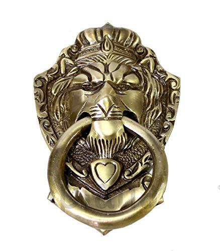 Esplanade - 14 cm Messing Viktorianischer Stil Türklopfer Löwe Mund Design | Wohnkultur | Tür Dekor | Messing Türklopfer - Brass Door Knockers