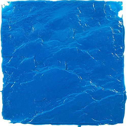 "VEVOR Concrete Texturing Skin, 12""x12"" Concrete Stamp Mat, Polyurethane Concrete Stamping Mats, Blue Slate Concrete Stamps, Concrete Texture Mat, Realistic Concrete Patterns Stamp for Walls/Floors"