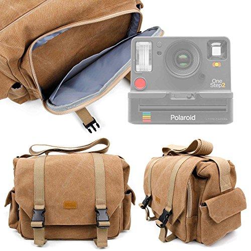 DURAGADGET Borsa Professionale Canvas per Fotocamera Polaroid OneStep 2 | OneStep+ | Kodak Printomatic - con Tracolla Regolabile E Numerosi Scomparti