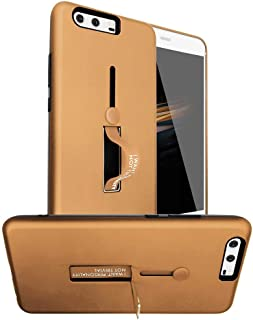 Huawei P10 Plus Matte Shockproof Ring Stand PC+TPU Back Case Cover - Rose Gold