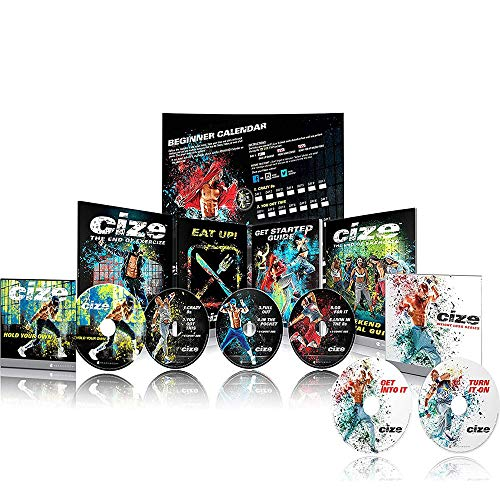 Qspeed Shaun T CIZE Dance Weight Loss Workouts DVD Base Kit - Exercise Fitness Video for Beginners or Women,Helps Shape Perfect Body
