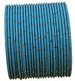 Touchstone Colorido Brazalete colección Bollywood Indio Exclusivo Esmalte diseñador Joyas brazaletes Especiales para Mujer 2.75 Conjunto de 2 Azul de Tiffany