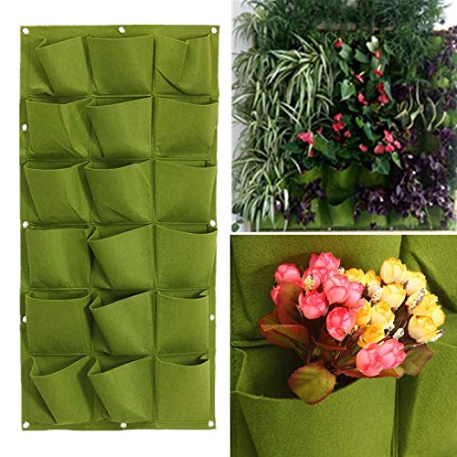 Generic 18 Pocket Vertical Greening Hang Wall Garden Seedling Plant Grow Bag Planter
