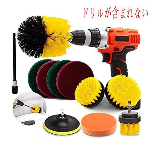 電動掃除用ブラシ11枚セット 六角軸電動ドリル 風呂 台所掃除 床板 浴室の壁掃除用ブラシ