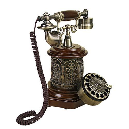 Telefoni con Filo 1Pack Telefono Antico Creativo Rotary comunicatore telefonico Decorazione Home Decor (Color : Brass, Size : 25.5x16x30cm)