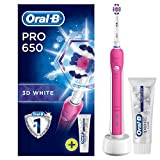 <span class='highlight'>Oral</span>-B Pro 650 3D White Electric Rechargeable Toothbrush Powered by Braun, 1 Pink Handle, 1 <span class='highlight'>Oral</span>-B 3D White Luxe Perfection Toothpaste, 2 Pin UK Plug