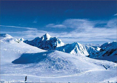 Christian In 5-delige set: Verstuur deze opvouwbare kaart ijskoude wintergroeten, uit de bergen.