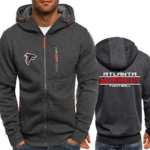 HSLIUYILYA Hoodie NFL Football Jersey - Atlanta Falcons - Langarm Zipper Sweatshirts Männer Herbst Jerseyhoodie Langarm-T-Shirt Pullover,XXL