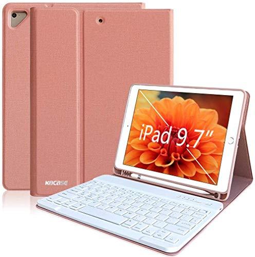 Custodia Tastiera iPad 2018, Custodia iPad 9.7 con Tastiera Italiano Bluetooth Removibile per iPad 2018(6th Gen)/iPad 2017/iPad pro 9.7/iPad Air 2/1 con Smart Auto Sleep-Wake