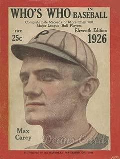 1926 baseball cards
