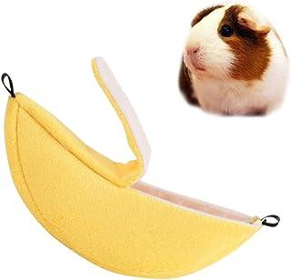ueetek Banana Hamster cama, nido de ratas Animal familier para hámster conejo ardilla Parrot, Rat Mouse cama casa nido jaula Hamster accesorios para pequeño Animal ardilla