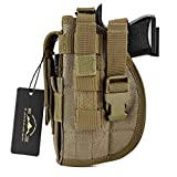 DYJ Left Hand Tactical Pistol/Gun Holster with Magazine Pouch/Pocket for S&W M&P Shield Glock 26 27 29 30 33 42 43