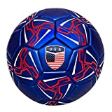 Western Star Official Match Game American Soccer Ball Size 5︱Official Size and Weight Indoor and Outdoor Training Ball USA (Navy Blue)