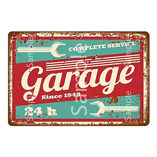 Makkalensau Shabby Chic Zündkerze Metall Plaque Zeichen Vintage Garage Home...
