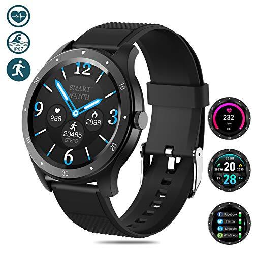 Salandens Smartwatch Pulsera Inteligente,Pulsera Actividad Impermeable IP67 monitores de actividad con…