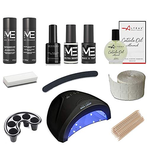 kit Semipermanente Unghie Completo MESAUDA'ME' Gel Polish – Con Fornetto Led 48w + Ultrabond + OMAGGIO Olio Cuticole ALTÉAX® + Smalto Semipermanente da 5ml...