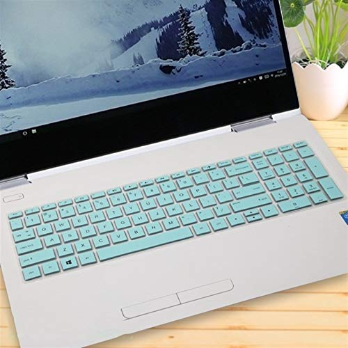 Soft Skin Protector, 15 15.6 inch Notebook Laptop Keyboard Cover Protector Skin For HP ENVY X360 15-bd001TX PAVILION 15-CB073TX / CB075TX Waterproof Dust-Proof (Color : Whiteblue)