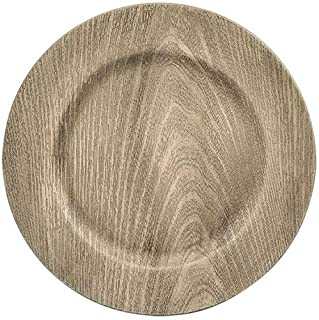 Faux Wood Charger Plates (Gray)