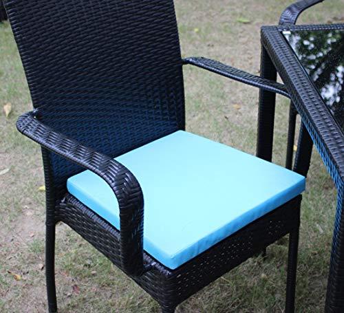 Hhxiao - Cojín de asiento impermeable para exterior o interior, cojín de asiento trasero para silla de patio