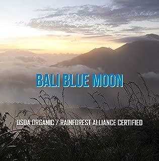 Bali Blue Moon Organic, Rain Forest Alliance, Whole Bean Coffee (Medium Roast (Full City +), 5 pounds Whole Beans)