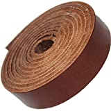 Leather Strap Brown 1 Inch Wide 9-10 oz, by TOFL