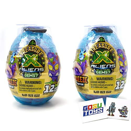 Treasure X Alien Hunters Alien Ooze Eggs Series 2 Squeeze to Hatch (2...