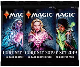 MTG 3 (Three) Packs - Magic: the Gathering Core Set 2019 Booster Packs (3 Pack Draft Lot)