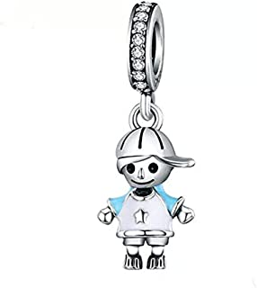 Boy OR Girl Dangle 925 Sterling Silver Child Charm Beads for Fashion Charms Bracelet & Necklace