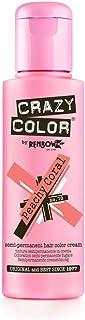 Crazy Color Semi Permanent Hair Colour, Peachy Coral 70, 10 g