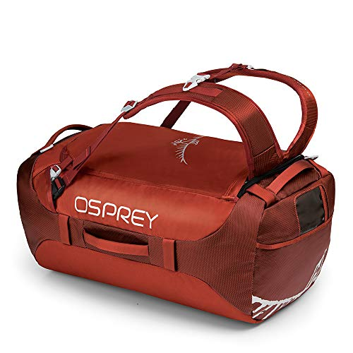 Osprey Transporter 65 Durable Duffel Travel Pack with Harness and Detachable Padded Shoulder Strap, Mixte Adulte, Rouge (Ruffian Red), Taille Unique