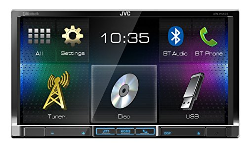 JVC KW-V41BT Doppel-DIN DVD/CD/USB-Receiver schwarz