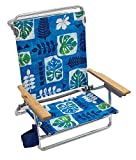 Rio Beach Classic 5 Position Lay Flat Folding Beach Chair - Global Essence Palm