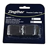 Zingther 2-Pack HiComfort Tennis Replacement Leather Grip Tape Also for Badminton Racket /Racquetball