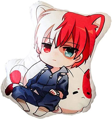 Ailancos Anime My Hero Academia Hold Plush Doll Toy Pillow Todoroki Shoto Cos Stuffed Cushion Gift