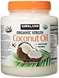 Kirkland Signature Cold Pressed Unrefined Organic Virgin Coconut Oil (2 Bottles - 84 OZ Each)