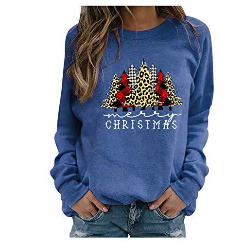SicongHT Pullover Weihnachten Damen, Weihnachtsbaum Lustig Weihnachtspullover Frauen...