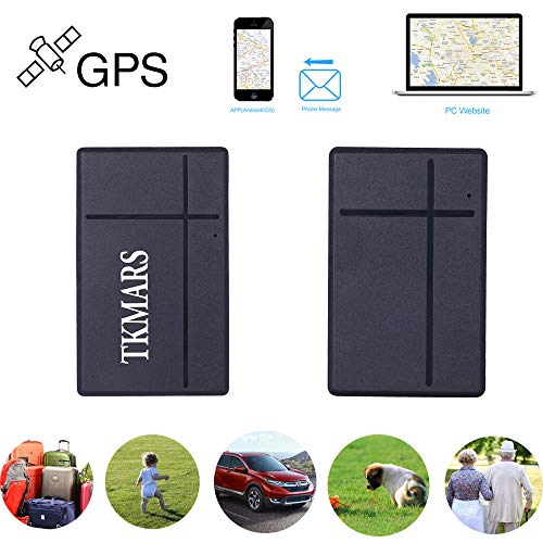 Mini GPS Tracker, tkmars GPS Tracker en Tiempo Real–localizador GPS Anti pérdida Mediante Flamenco App Gratuito para Cartera becas para niños Carpetas Importantes Documentos, etc. tk903b