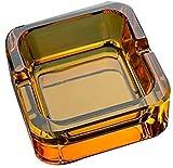 Cenicero JT- Tamaño Cristal de Vidrio Creativo y Minimalista Simple Hotel de decoración de Interior Cristal Durable (Size : S)