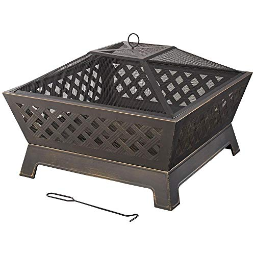 Hampton Bay OFW832S Tipton 34 in. Steel Deep Bowl Fire Pit in Oil Rubbed Bronze