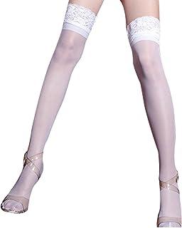 e06b8860ab0f3 CinGr8 Women s Sexy Club Socks Thigh High Stockings Lace Top