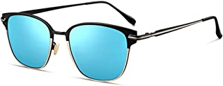 Fashion New UV400 Black Blue Sunglasses Male Sunglasses Driving Driving Retro (Color : Blue)