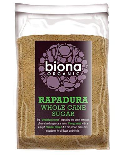 Biona Rapadura Orgánica De Caña Integral 500g De Azúcar (Paquete de 2)