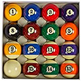 Collapsar AAA Grade Billiard Pool Table Billiard Ball Set,2-1/4' Regulation Size Full of 16 Resin Billiard Balls(Several Styles Available) (Art Number with Black Circle Style)