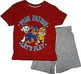 Pijama de la Patrulla Canina de Nickelodeon, de manga corta rojo 128