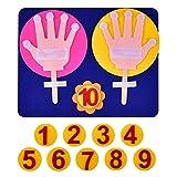 Juguetes educativos hechos a mano de lana hechos a mano para niños novedad Dedos Números Contador de lana de fieltro Set de juguete Tipo A
