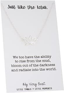Dainty Lotus Necklace