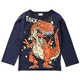 Snakell Kinder Langarmshirts Jungen Dinosaurier Pullover Baby Sweatshirt Baumwolle Tops Kinder Baumwolle Sweatshirts T Shirts Langarm Shirts Jungen Baby Hemd Pullover 2-7Jahre