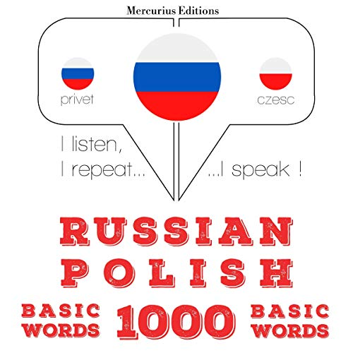 Diseño de la portada del título Russian - Polish. 1000 basic words